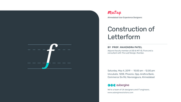 Construction of Letterform by Prof. Mahendra Patel