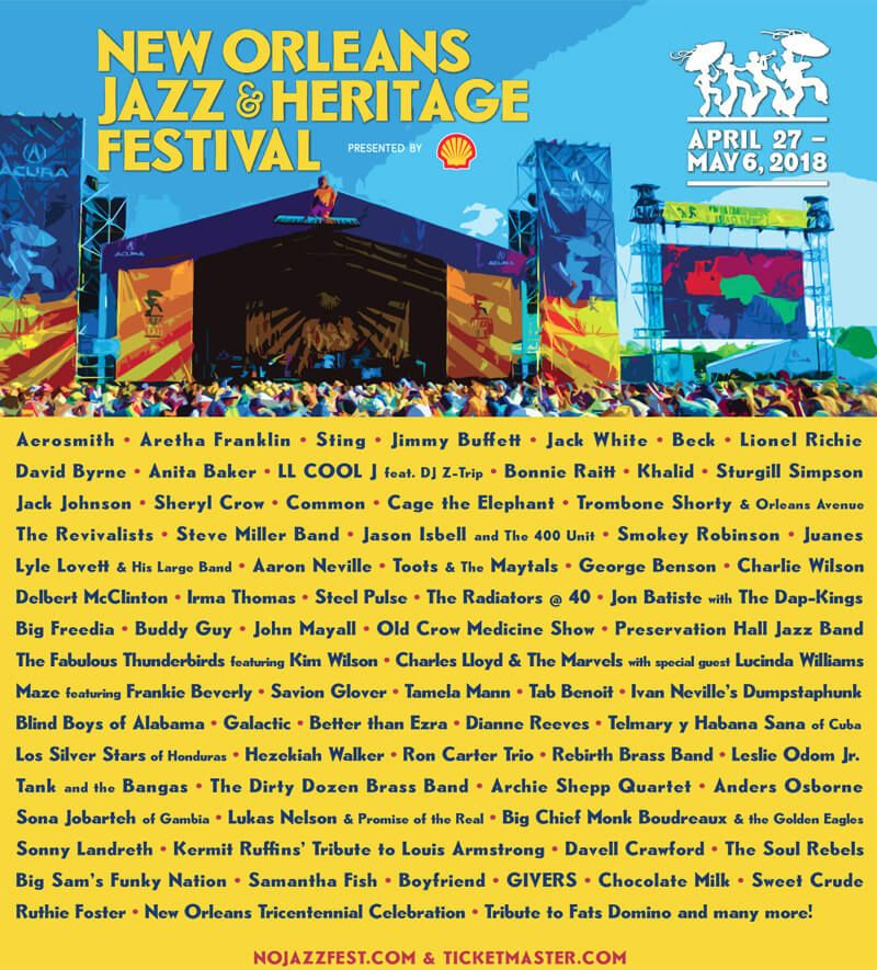 No Jazz Fest >> New Orleans Jazz Fest 2018 April 27 29 27 Apr 2018