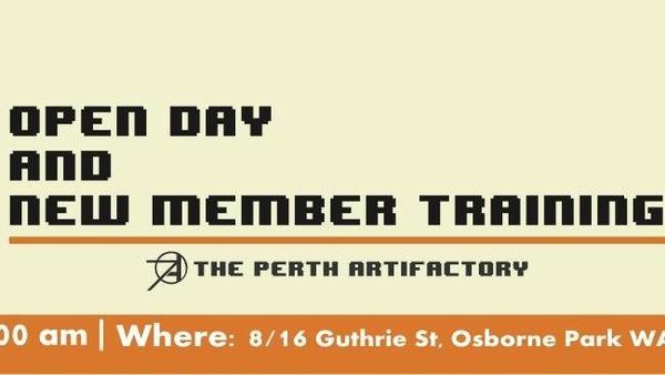 Perth Artifactory Open Day and New Member Training | Meetup