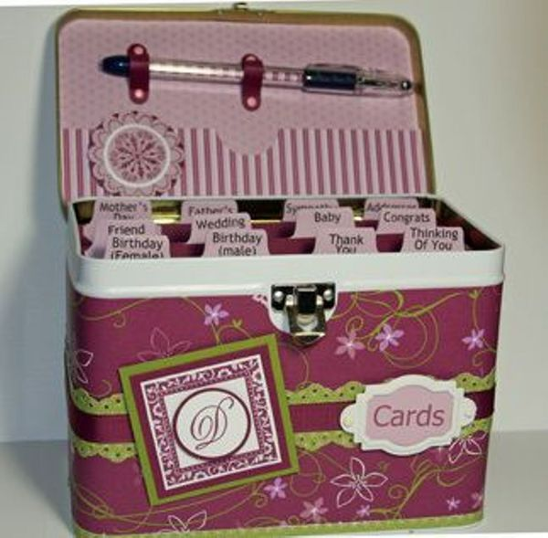 Cottage Wall Card Organizer Tin And Cards Class- Sept 27