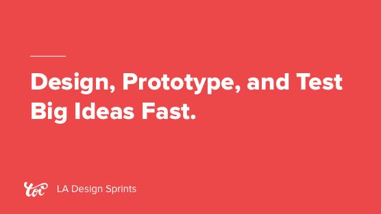 Design Sprint Los Angeles