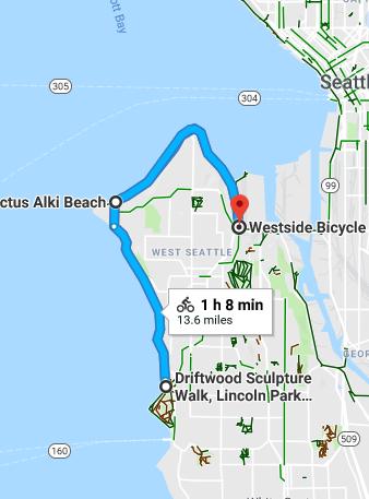 Alki Beach Seattle Map.Alki Beach Ride And Cactus Tacos 14 Jul 2018