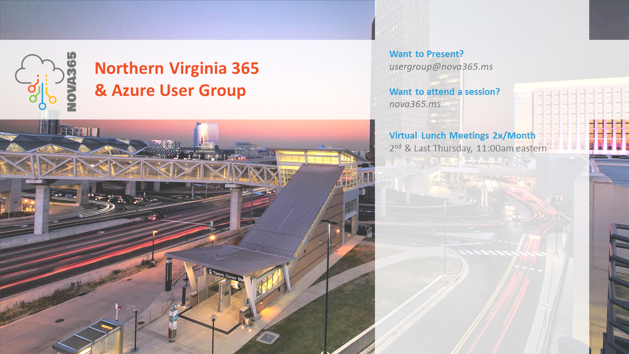 Northern Virginia 365 and Azure User Group