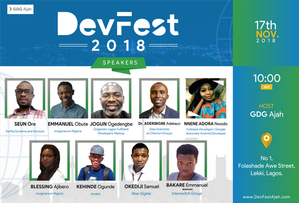 Google Developer Group (GDG) Ajah Set To Host Developers At First Ever DevFest Ajah By 17th Nov 2018. Register Now!!!