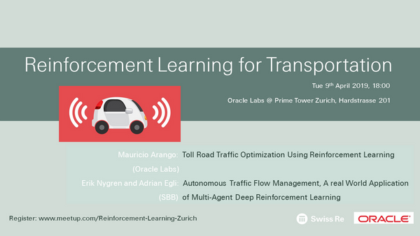 Reinforcement Learning for Transportation | Meetup