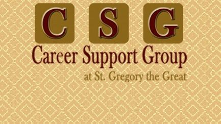Career Support Group @ St. Gregory the Great
