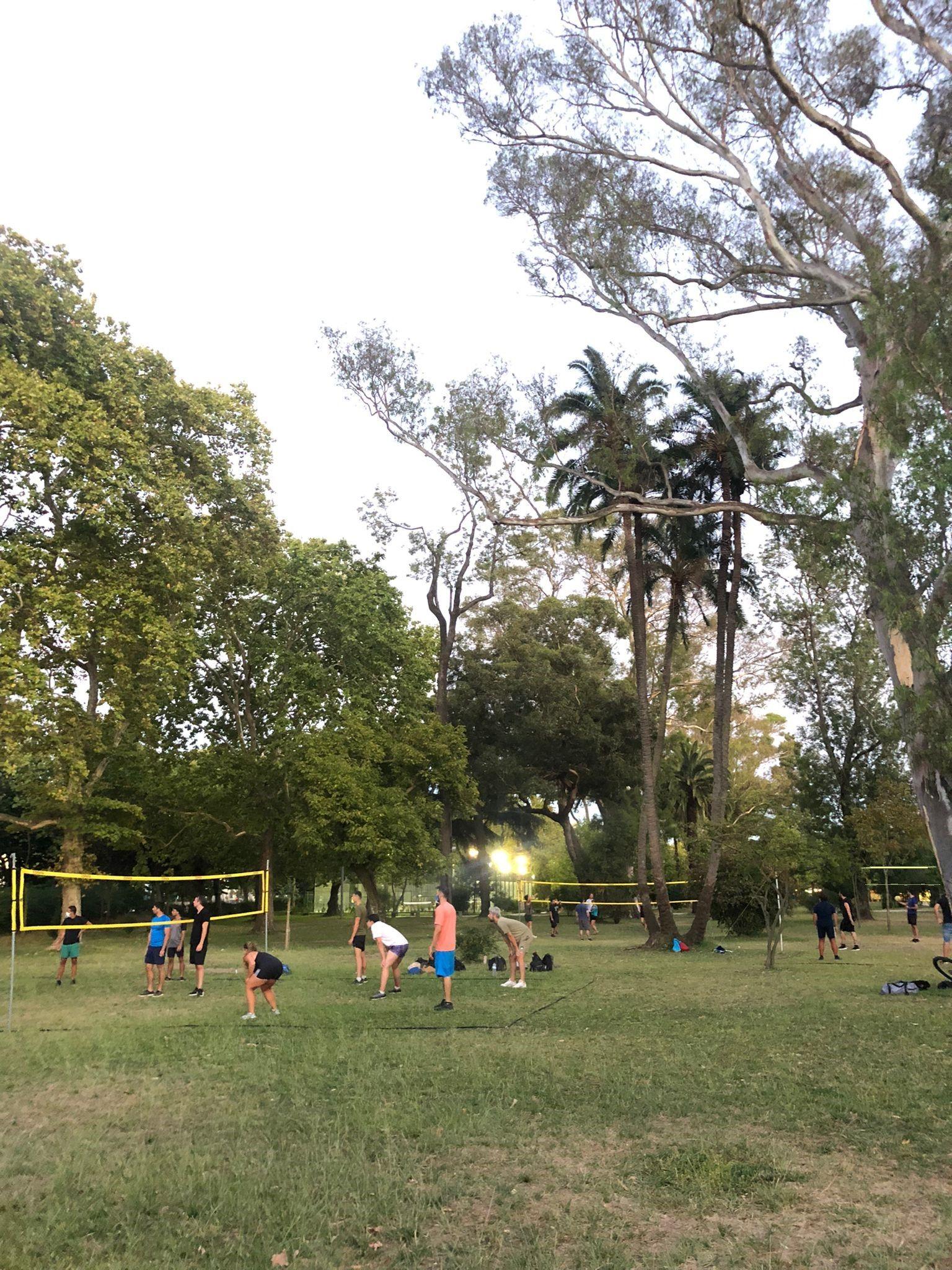 Volley and beer at Campo grande garden