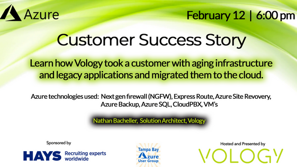 Cloud Success Story - Presented by Vology | Meetup