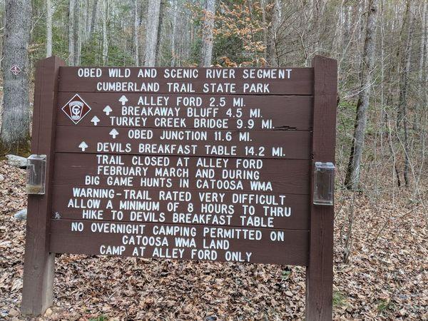 Cumberland Trail Nemo Bridge Trailhead To Devil 39 S Breakfast Table Trailhead Meetup