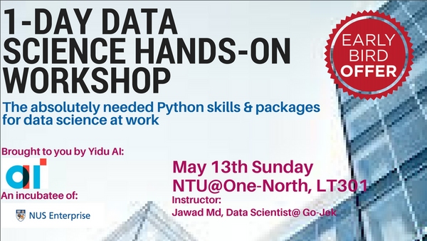 1-Day Introduction to Data Science Hands-on Workshop | Meetup