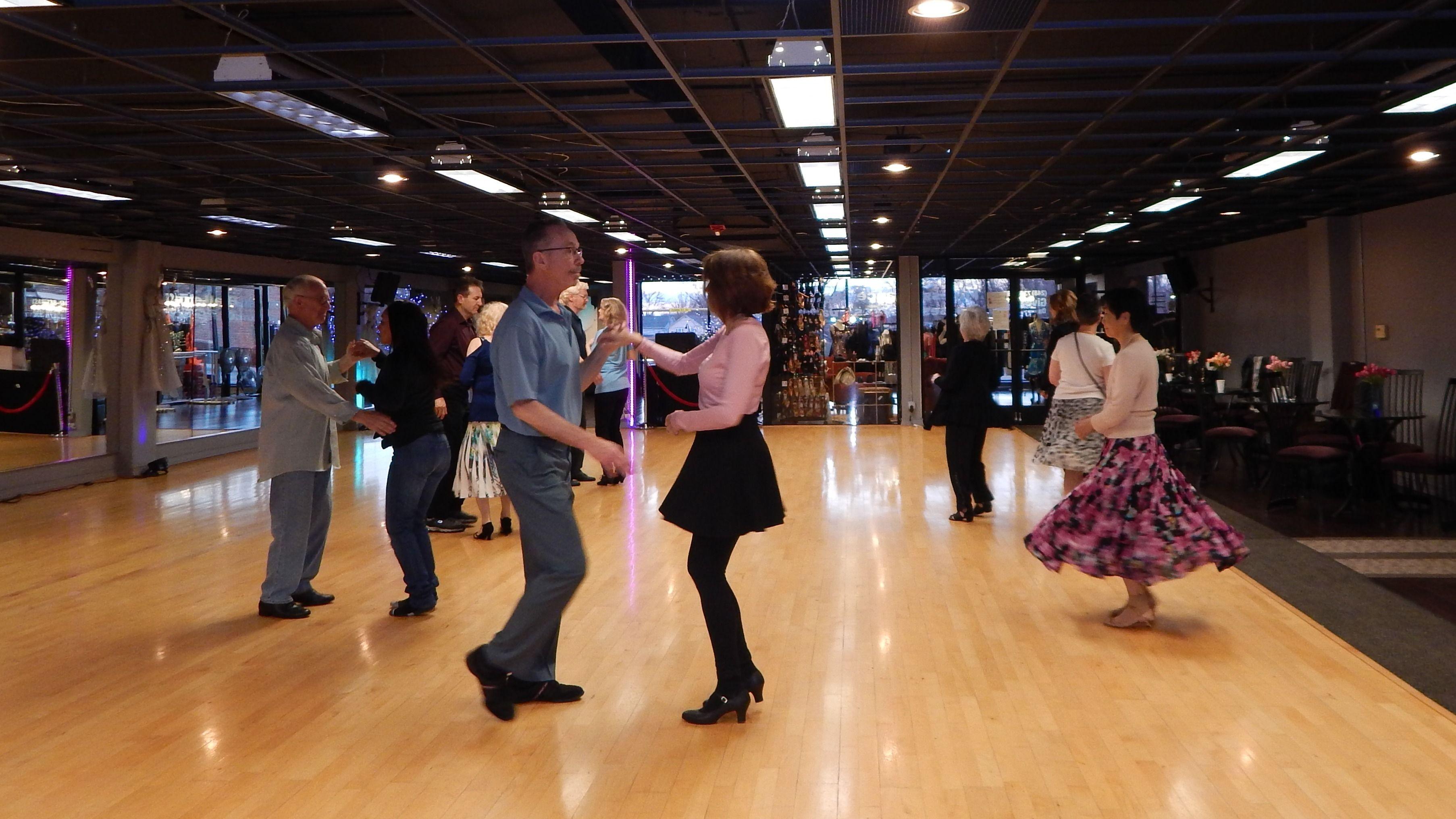 Dancing at Loretta's Boutique & Ballroom