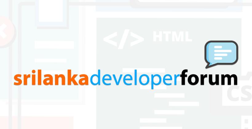Sri Lanka Developer Forum