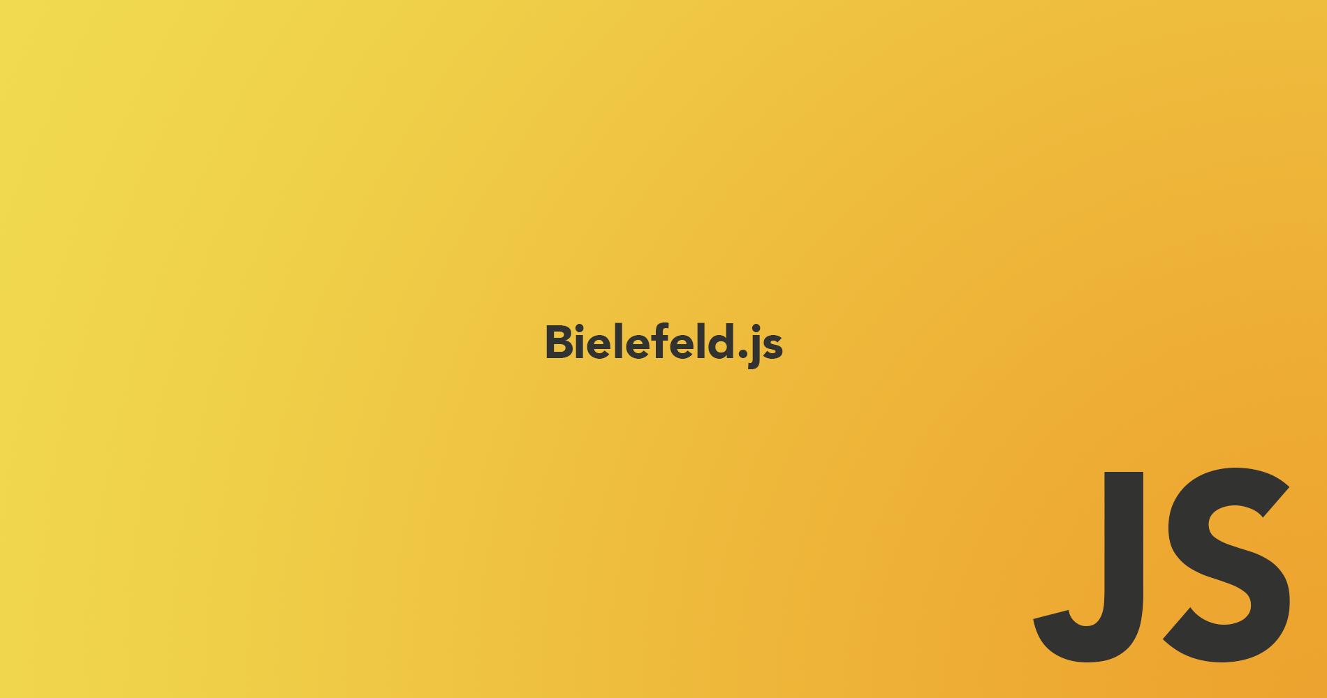 JavaScript Meetup Bielefeld