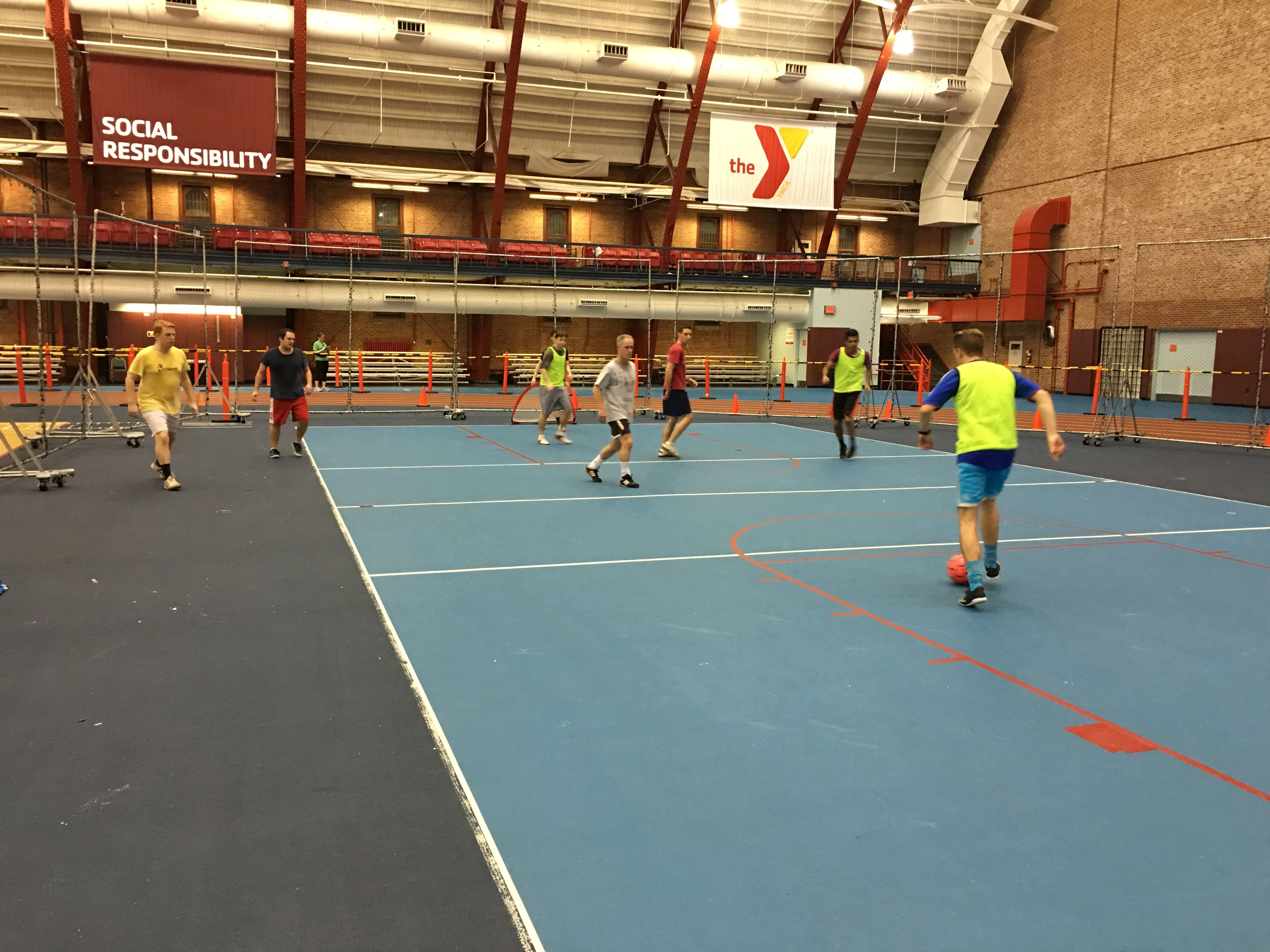 Park Slope YMCA Armory Pick-Up Soccer Game