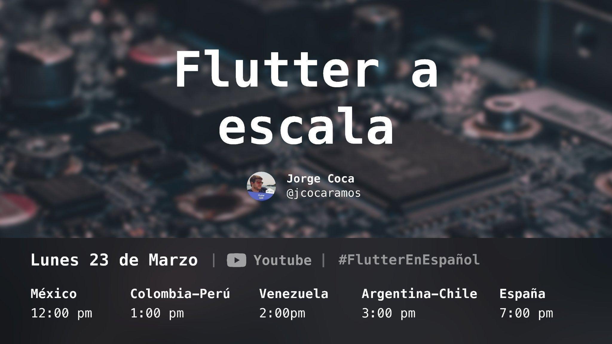 Imagen del evento Flutter a escala