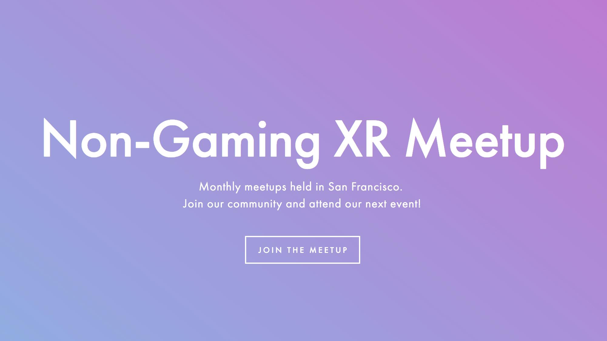 Non-Gaming XR - San Francisco