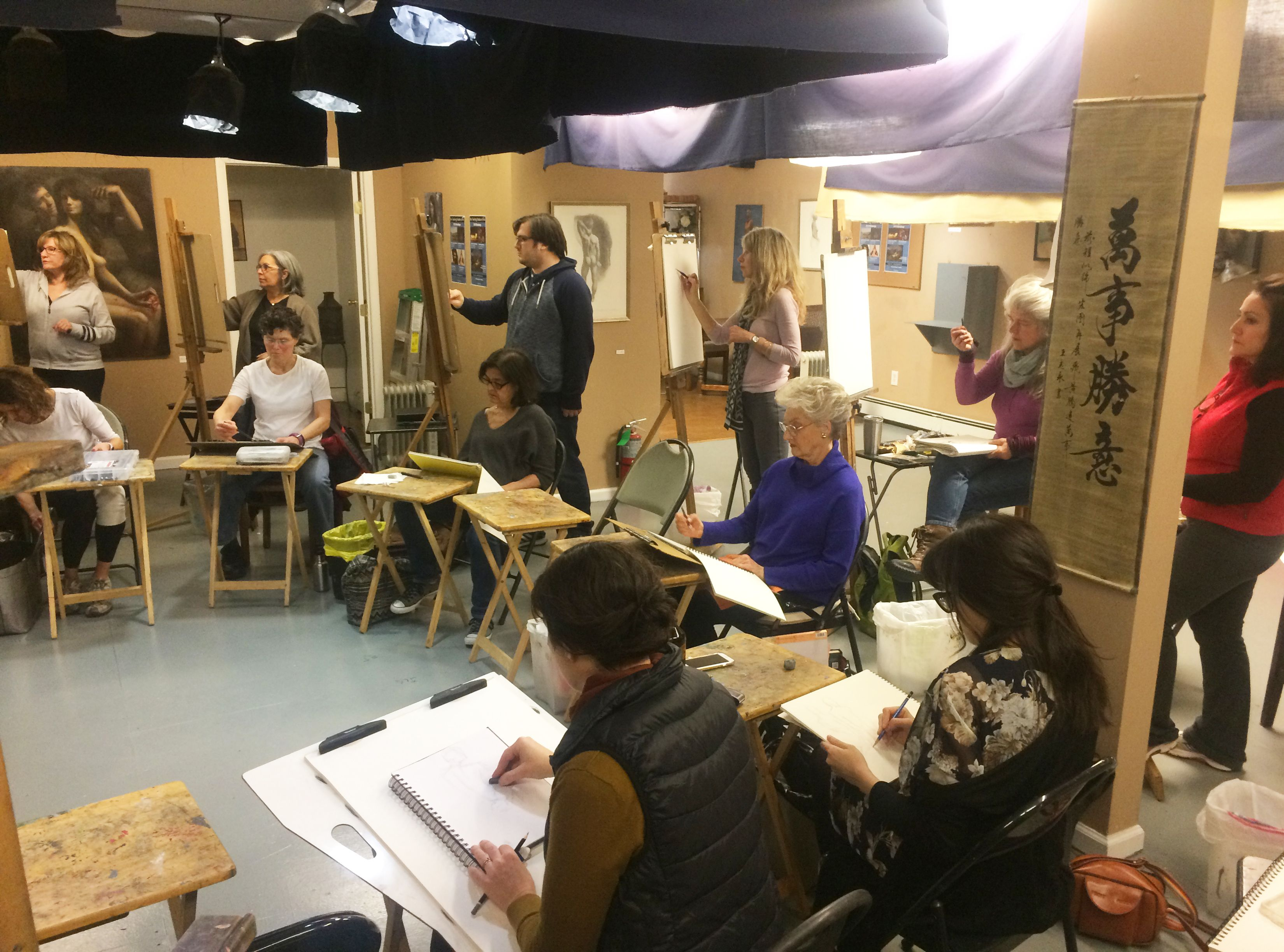 Photos - Long Island Open Figure Drawing at The Teaching