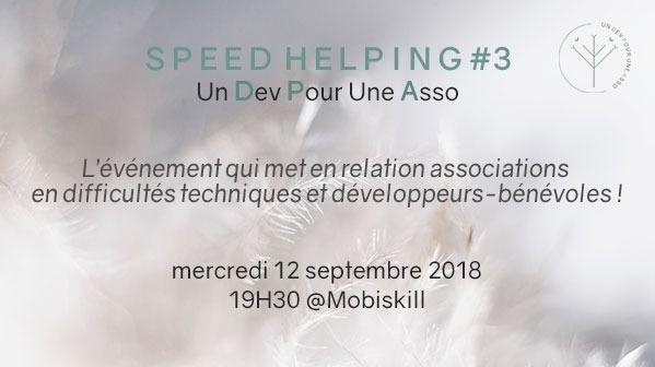 Speed Helping - Un Développeur Pour Une Asso