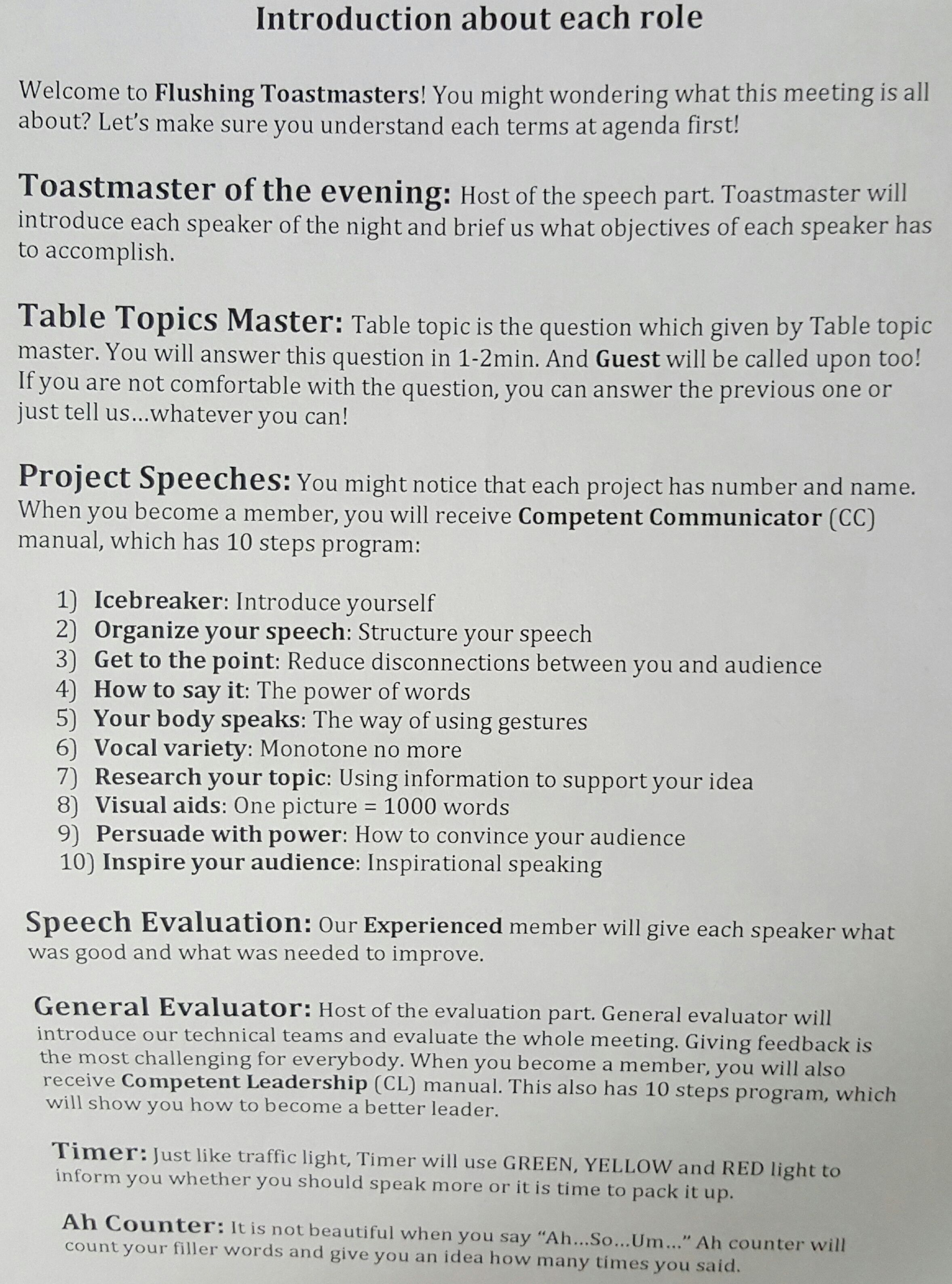 toastmasters speaking to inform project 1