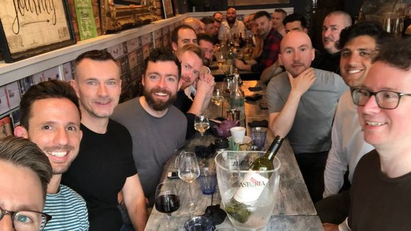 The Gay men s supper group meets monthly in restaurants