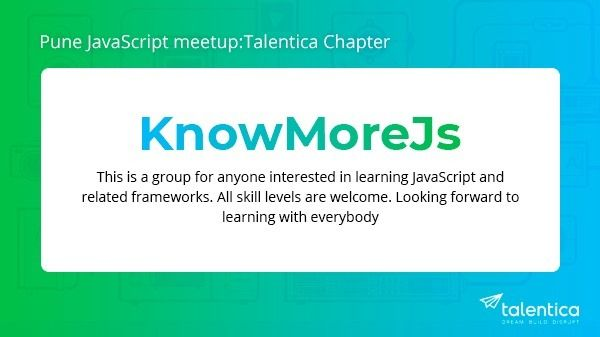 Pune JS Meet [new] -Talentica Chapter