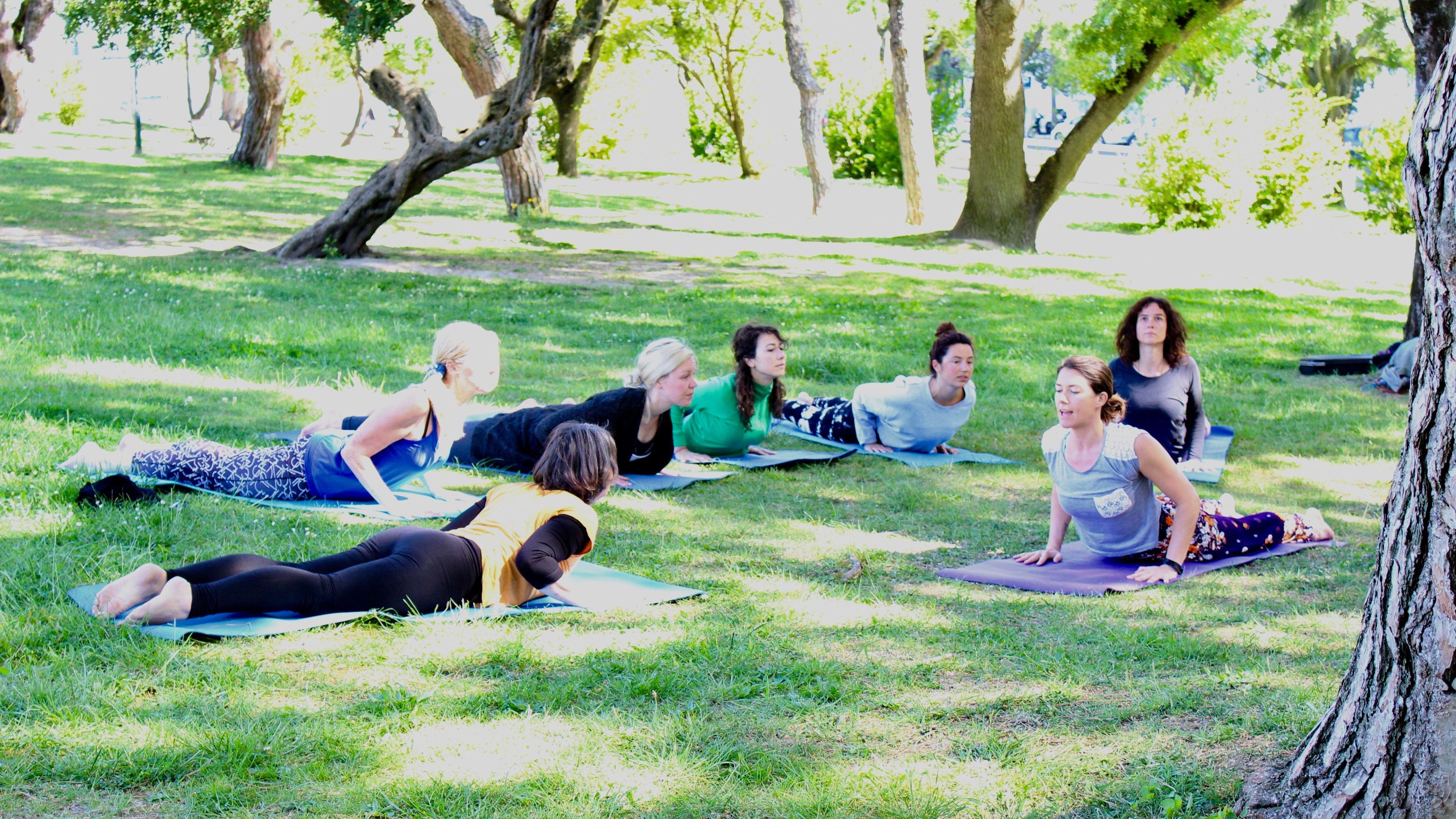 Morning Yoga in Parque Eduardo VII