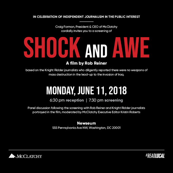 Shock And Awe Screening Panel At The Newseum