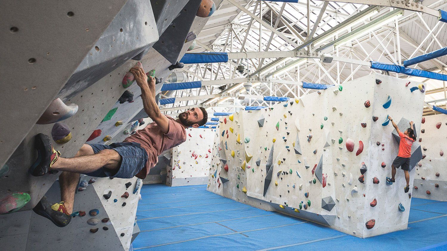 Bouldering at The Climbing Works