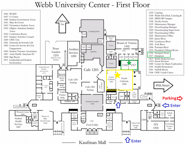 Old Dominion Campus Map.Fifth Annual International Nodebots Day At Webb University Center