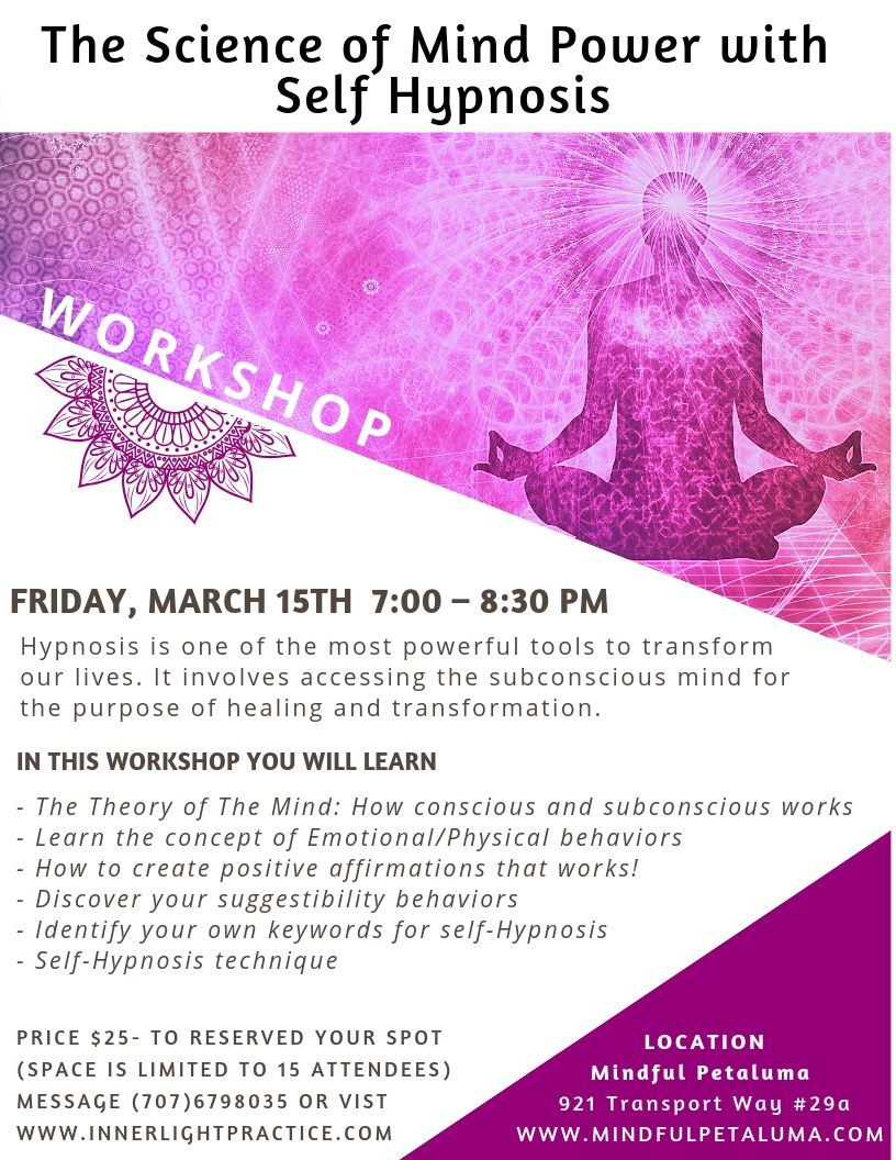 WORKSHOP: The Science of Mind Power with Self Hypnosis