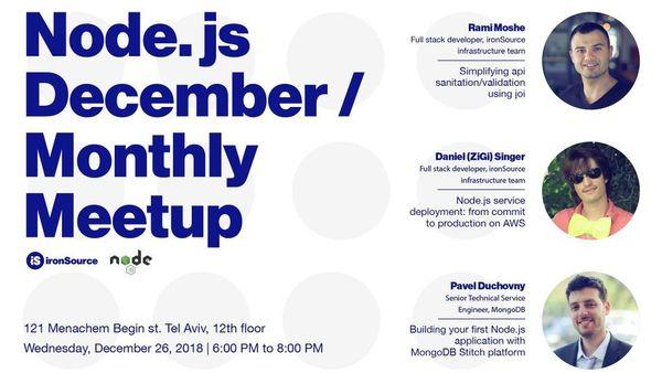 December Node js monthly meetup | Meetup