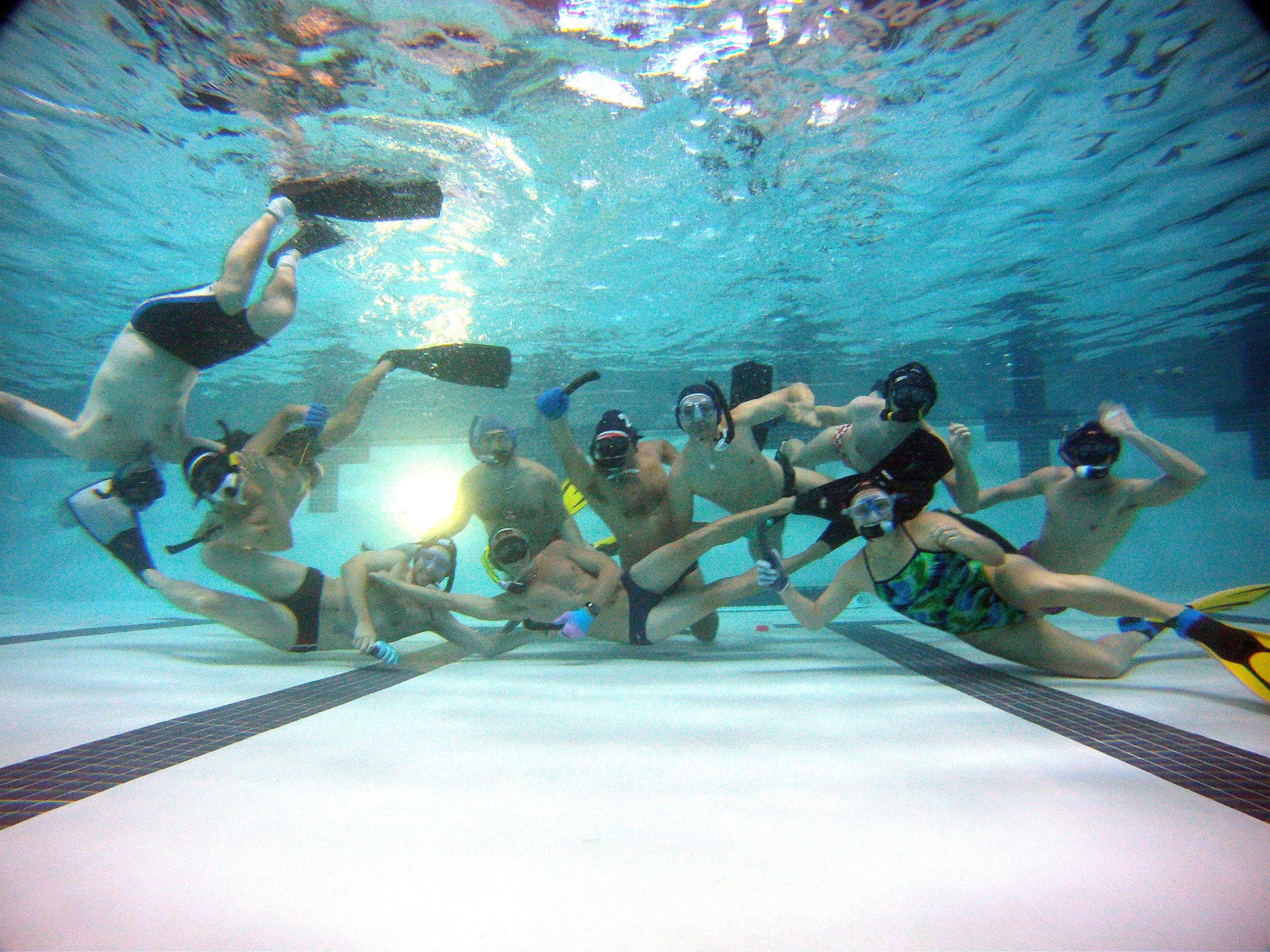 Underwater Hockey Practice
