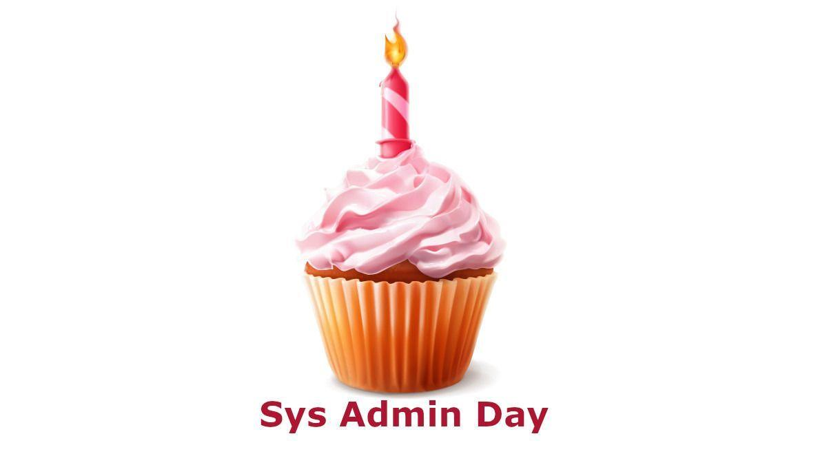 Sys Admin Day (pink cupcake with a candle)