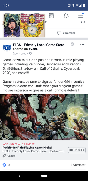 Pathfinder Role playing game night at flgs | Meetup