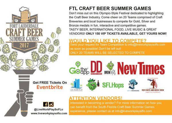 Ftl Craft Beer Summer Games