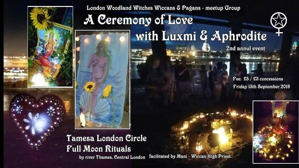 TLC Full moon: A Ceremony of Love with Goddesses Aphrodite