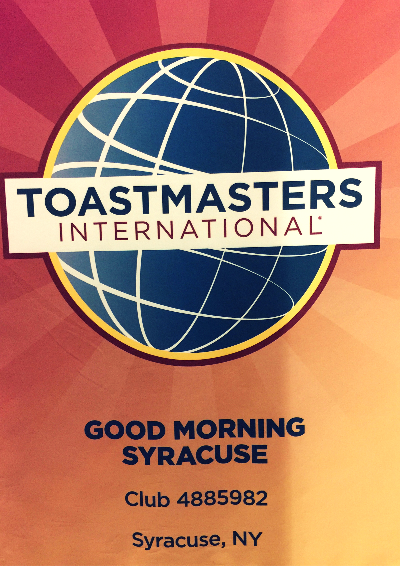 Toastmasters Good Morning Syracuse: Social Ni