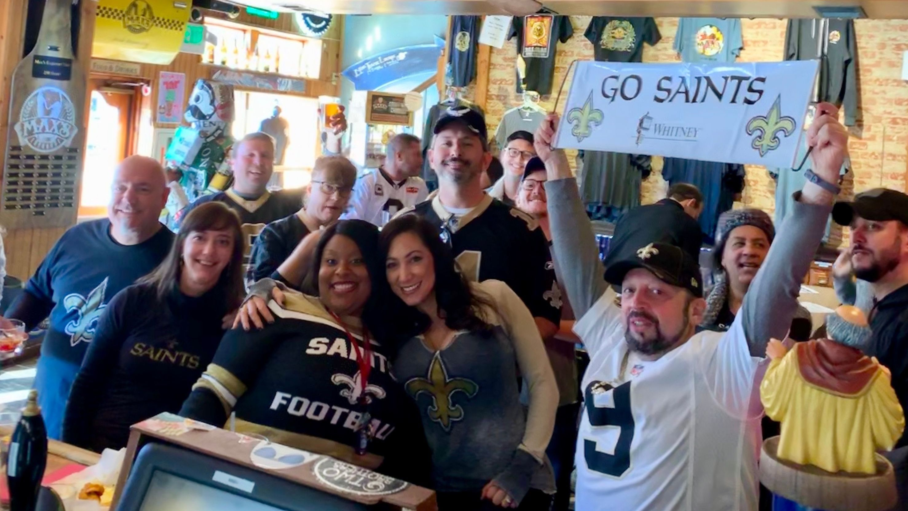 New Orleans Saints Fans in Baltimore .......(WHO DAT!)......