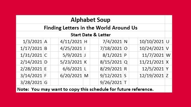 Alphabet Soup | Finding Letters in the World Around Us