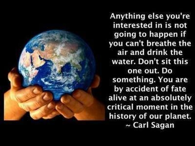 Image result for carl sagan climate change quote