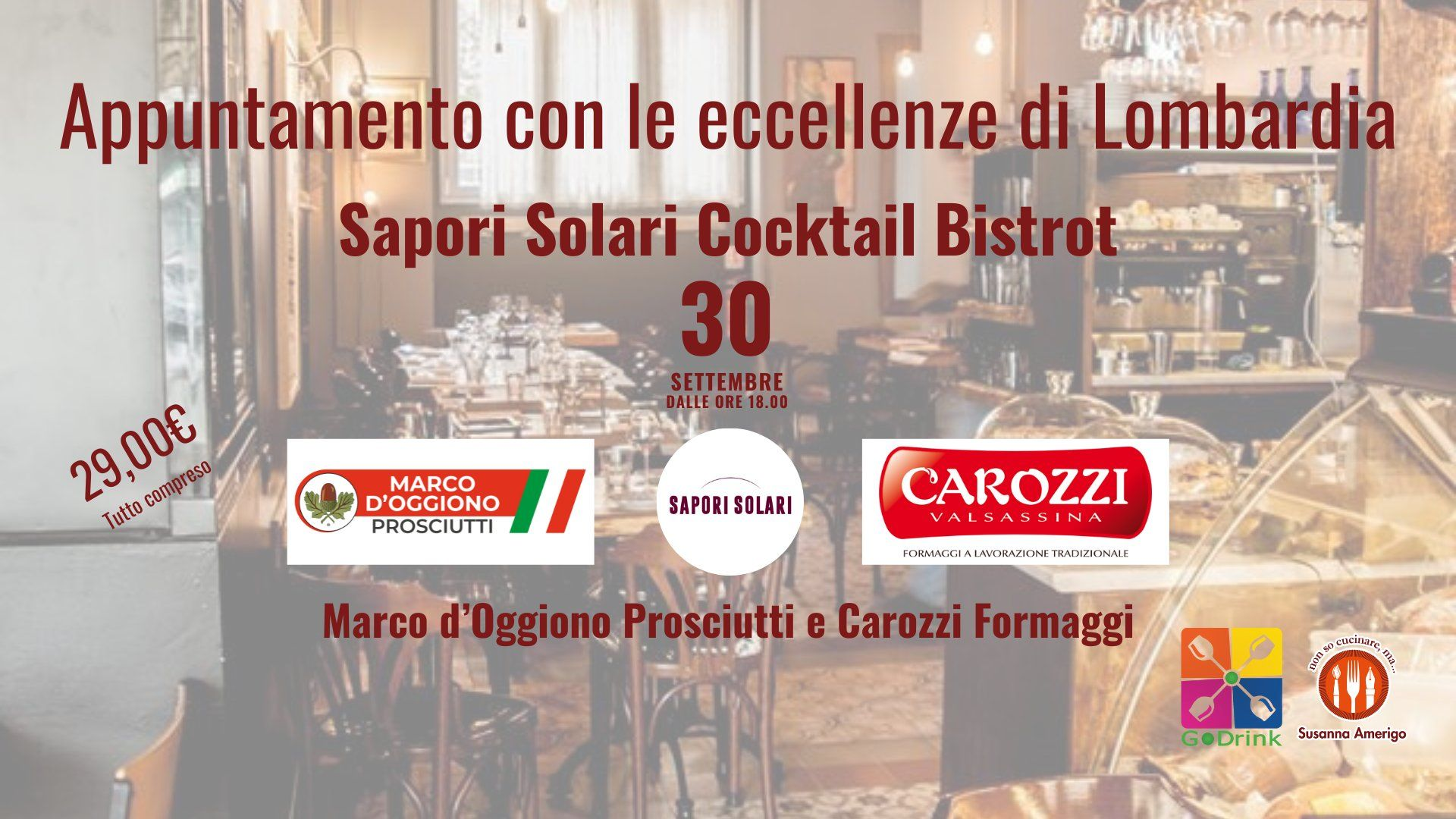 Appuntamento con le eccellenze di Lombardia - Sapori Solari Cocktail Bistrot