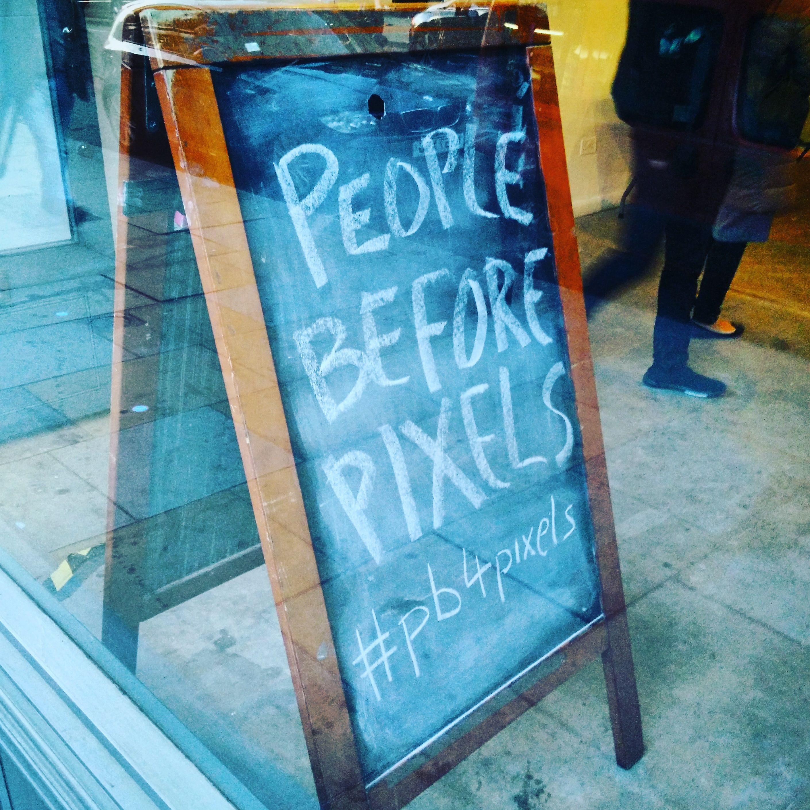 People before pixels