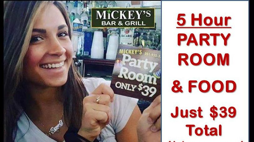 North Jersey MeetUp Party Venue @ Mickey's - Only $39