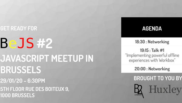 BeJS #2 : Javascript meetup in Brussels