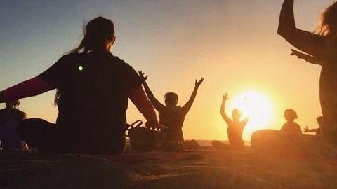 sunday evening beach yoga with maggy  meetup