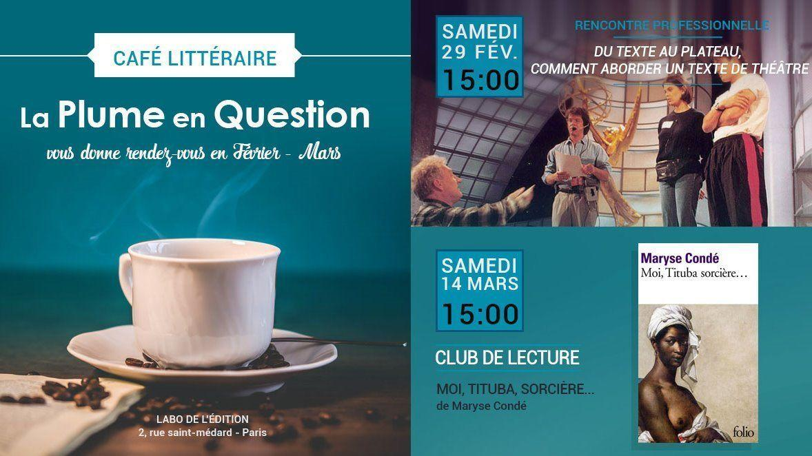 Café littéraire La Plume en question