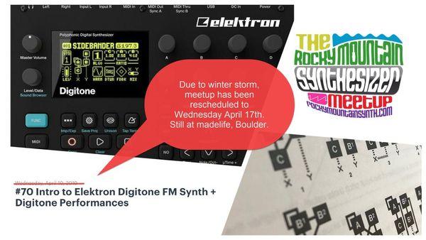 70 Intro to Elektron Digitone FM Synth + Digitone