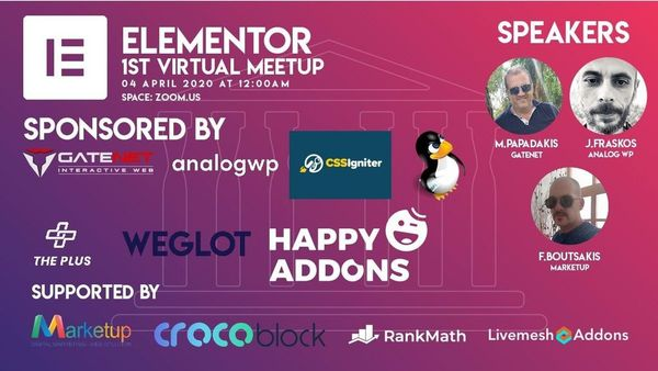 Elementor 1st Virtual Meetup - event image