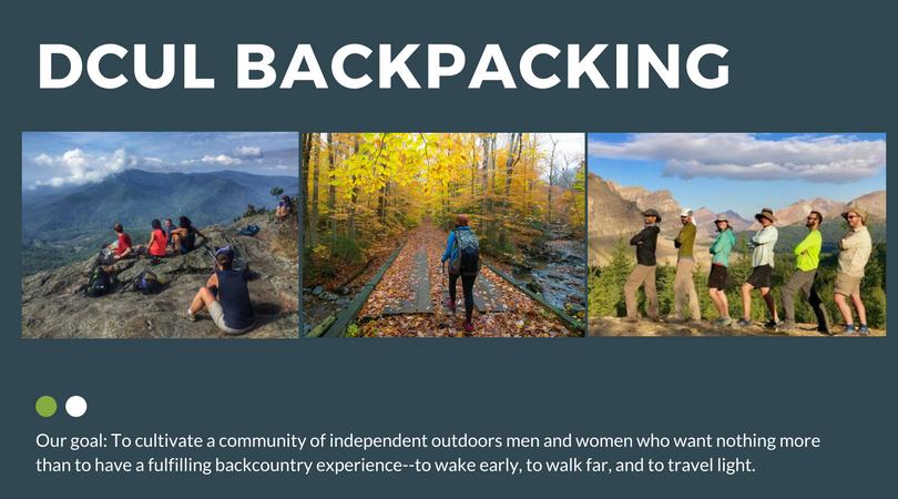 DC UL Backpacking