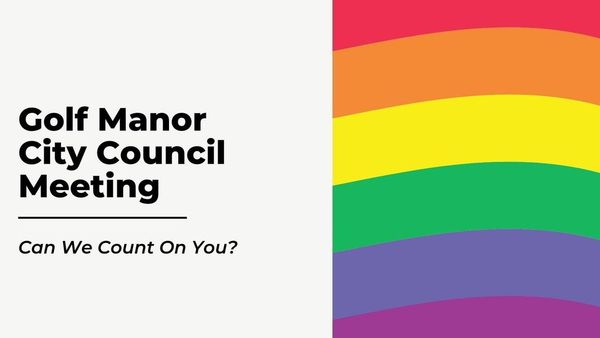 LGBTQ Nondiscrimination Ordinance: Golf Manor Council Meeting